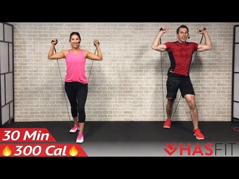 Best Resistance Band Total Body Workout Routine Youtube