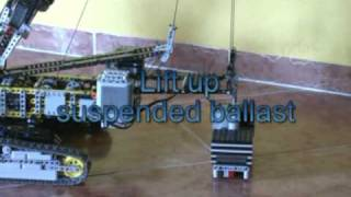 preview picture of video 'LEGO Technic Crawler Crane XL in action'
