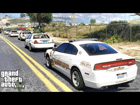 GTA 5 MODS LSPDFR 937 - CHARGER PATROL!!! (GTA 5 REAL LIFE
