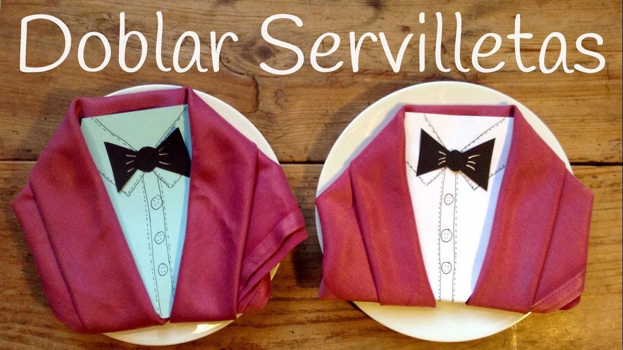 Doblar SERVILLETAS de tela en forma de chaqueta | DECORACIÓN para la mesa elegante