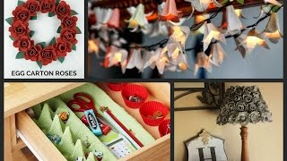 Egg Carton Craft Ideas - Recycled Home Decor