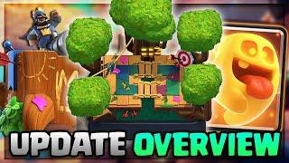 "NEW ""HEAL SPIRIT"" CARD, HEIST MODE, TREE HOUSE TOWER SKIN! Clash Royale Season 10 Update!"