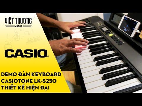 Demo đàn organ Casiotone LK-S250