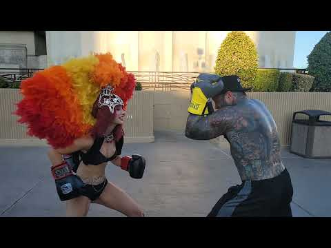 THIS CHICK CAN FIGHT (vegas strip call outs)