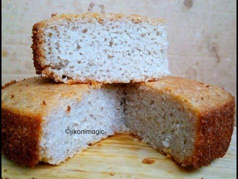 Mkate wa sinia | Mkate wa Kumimina | Rice and Coconut Cake in Swahili | Jikoni Magic