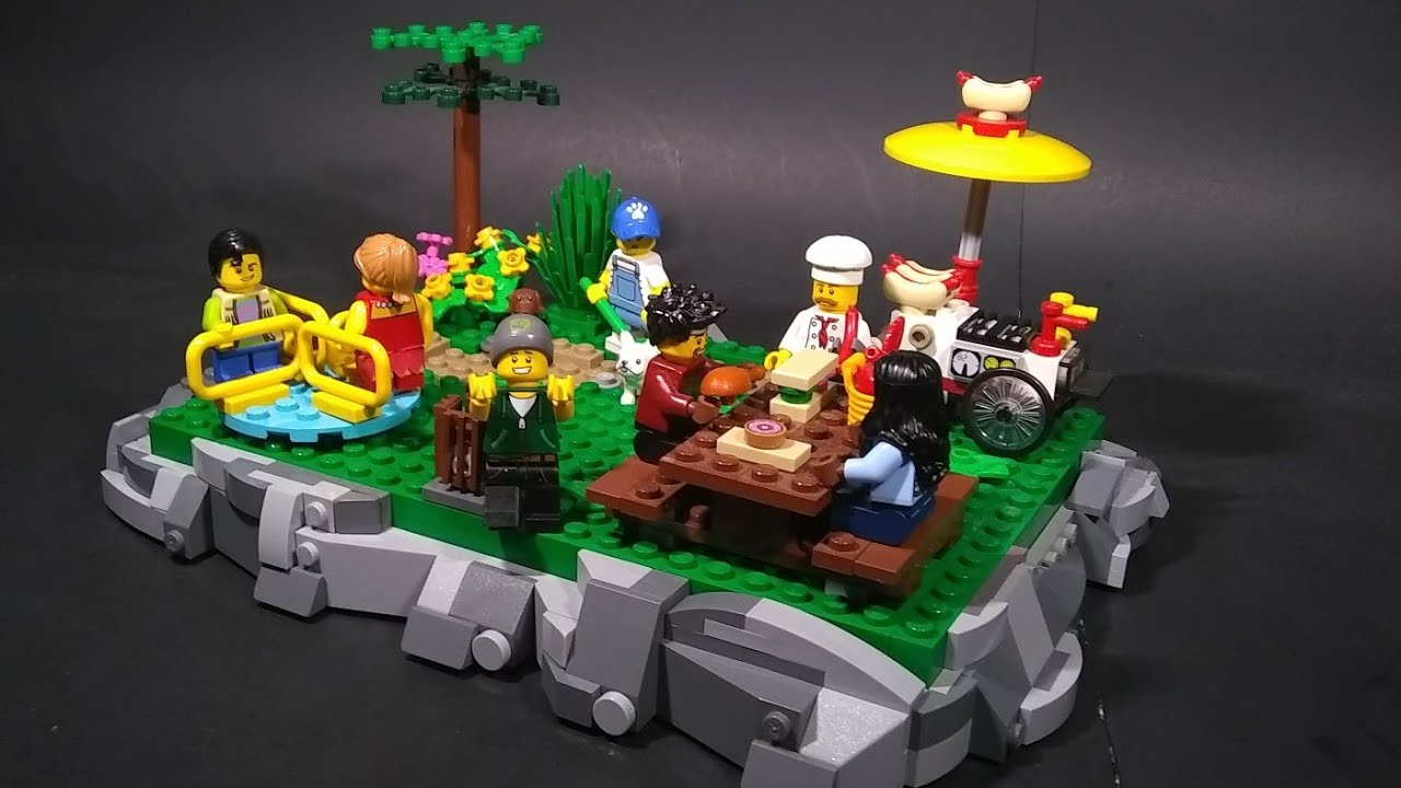 Lego Park MOC | With Rock Ground