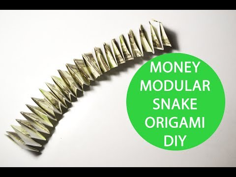 Money Modular Snake Origami Dollar Tutorial DIY Decoration And Toy