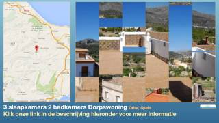 preview picture of video '3 slaapkamers 2 badkamers Dorpswoning te Koop in Orba, Spain'