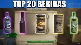 FALLOUT 4 | TOP 20 BEBIDAS (SIN SER NUKA COLA)