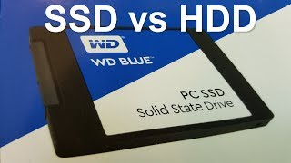 WD Blue SSD setup Windows 10 with SSD SPEED Test - Fast SSD vs HDD