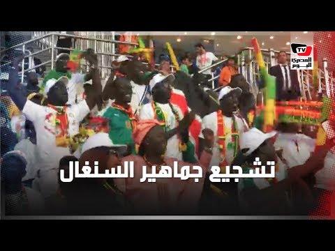 جماهير السنغال تشجع فريقها من المدرجات