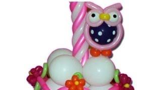 Curso de globos, como hacer un buho en globos, animales en globos