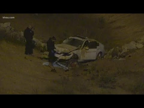 Woman dies after car crashes into ditch on Grand Parkway