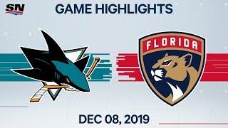NHL Highlights | Sharks vs. Panthers – Dec. 08, 2019