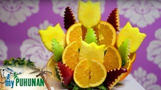 FruiQuet Owner Noeme Supnet Shows How To Prepare Their Sunny Tropics Fruit Bouquet   My Puhunan