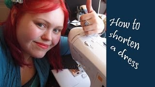 Sewing basics - How to: shorten a dress (or skirt or trousers)