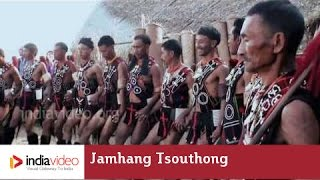 Rehearsal of Jamhang Tsouthong, a tribal dance  of Nagland