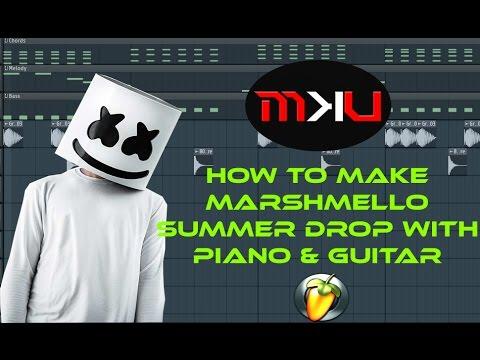 FL Studio Tutorial | How to make Marshmello Summer Drop with Piano & Guitar