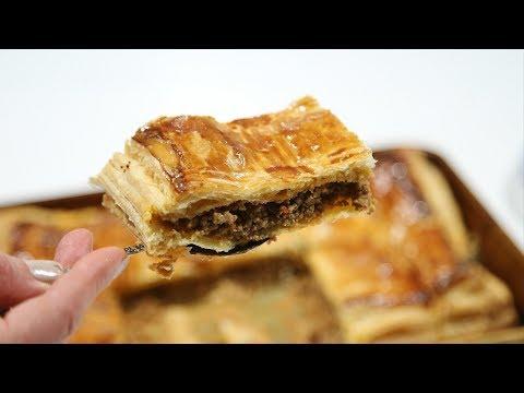 Մսով Շերտավոր Խմորով Կարկանդակ – Meat Pie Recipe – Heghineh Cooking Show in Armenian
