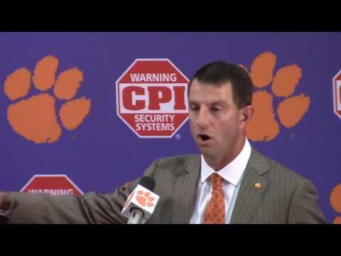 TigerNet.com - Dabo Swinney Syracuse postgame press conference - Part 1