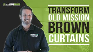 Transform your those old mission brown curtains in your bedroom