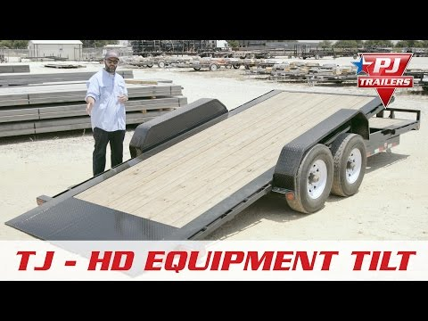 2019 PJ Trailers HD Equipment Tilt 6 in. Channel (TJ) 16 ft. in Hillsboro, Wisconsin - Video 1
