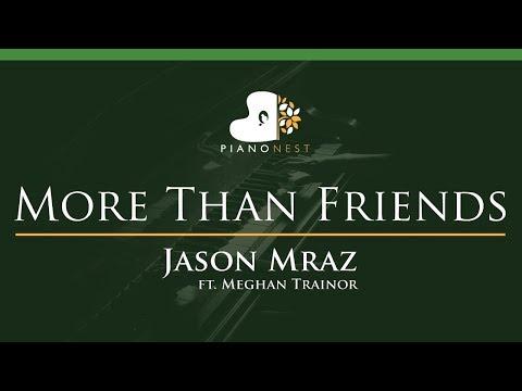Jason Mraz - More Than Friends (feat. Meghan Trainor) - LOWER Key (Piano Karaoke / Sing Along)