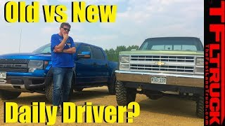 Ford Raptor vs Chevy K10: What's It Like To Daily Drive a Classic Truck?