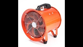 Explosion Proof Portable Exhaust Fan - Ventilation Diameter 8