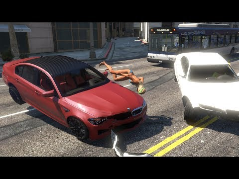 High Speed Crashes with Real Cars #4 - GTA 5 (Ultr | Youtube