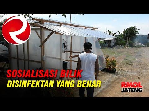 Marak Bilik Disinfektan, Polres Semarang Sosialisasikan Cara Penggunaan Disinfektan Yang Benar
