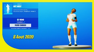 BOUTIQUE FORTNITE Du 8 Aout 2020 ! ITEM SHOP August 8 2020 !