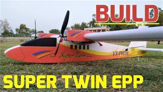 Build Video of VT-Super Twin - 1400MM RC/FPV Plane Twin Motor EPP Plane