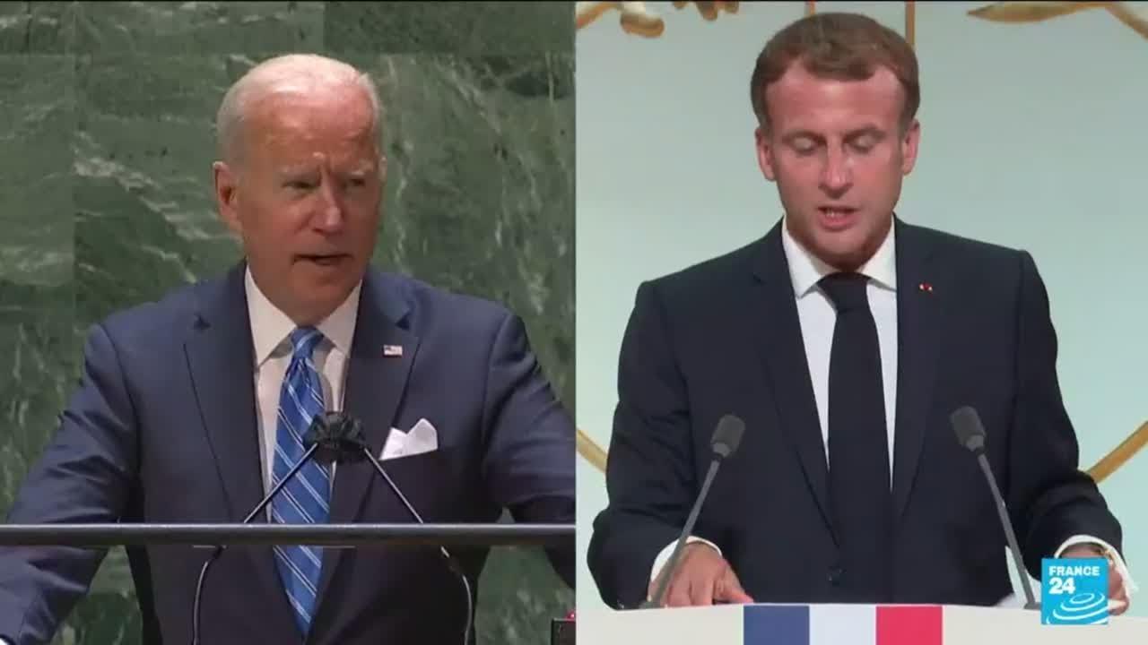 """Crise des sous-marins : Macron et Biden tentent un """"retour à la normale"""" • FRANCE 24"""