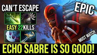 Echo Sabre on BS is so Powerful [Bloodseeker] The Fastest Speed Build 22Kills By Bamboe | DotA 2