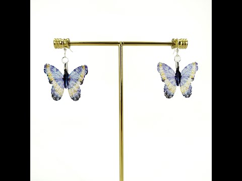 Butterfly - Real Leaf Dangle Earrings