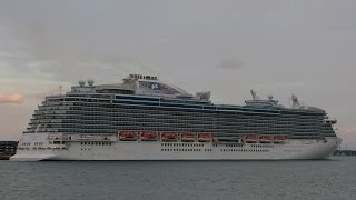 """Adventure of the Seas"", ""Black Watch"" & ""Royal Princess"" depart from Southampton - 08/05/2014"