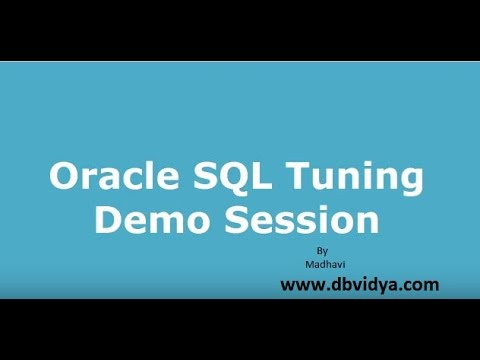 SQL Tuning Online Training