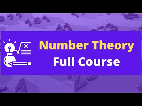 Number theory Full Course [A to Z]