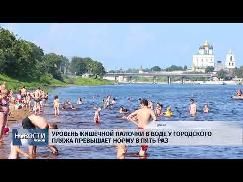 Новости Псков 13.07.2018 # Уровень кишечной палочки на городском пляже превышает норму в пять раз
