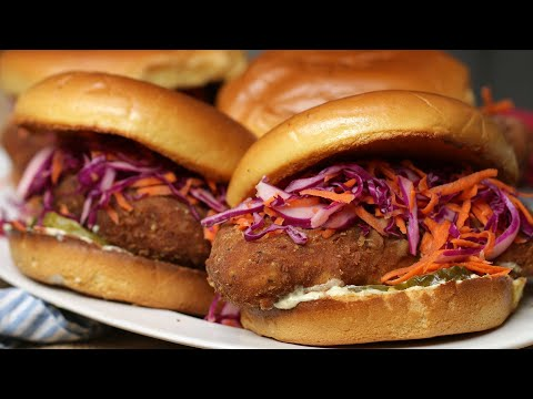 Vegan Faux Chicken Sandwich