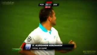 F.C. Nordsjælland-FC Zenit Saint Petersburg . Aleksandr Kerzhakov . 0:1 :)