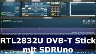 SDRUno mit RTL2832U DVB-T Stick betreiben