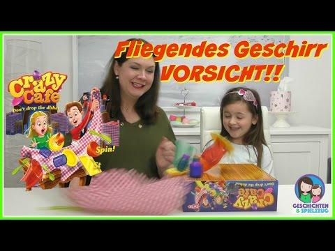 Vorsicht fliegendes Geschirr 💨 Crazy Cafe Spiel 🍽️ 💕 Geschichten und Spielzeug