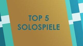 Top 5 Solospiele - Brettspiele für einen Spieler