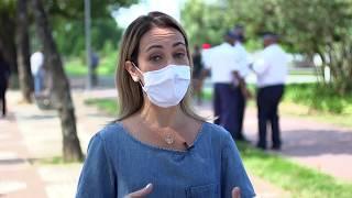 Coronavírus - Fiscalização é realizada no primeiro dia do uso obrigatório de máscaras