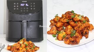 No Fry Gobi (Cauliflower) Manchurian Video Recipe with Cosori Air Fryer XL Bhavna's Kitchen
