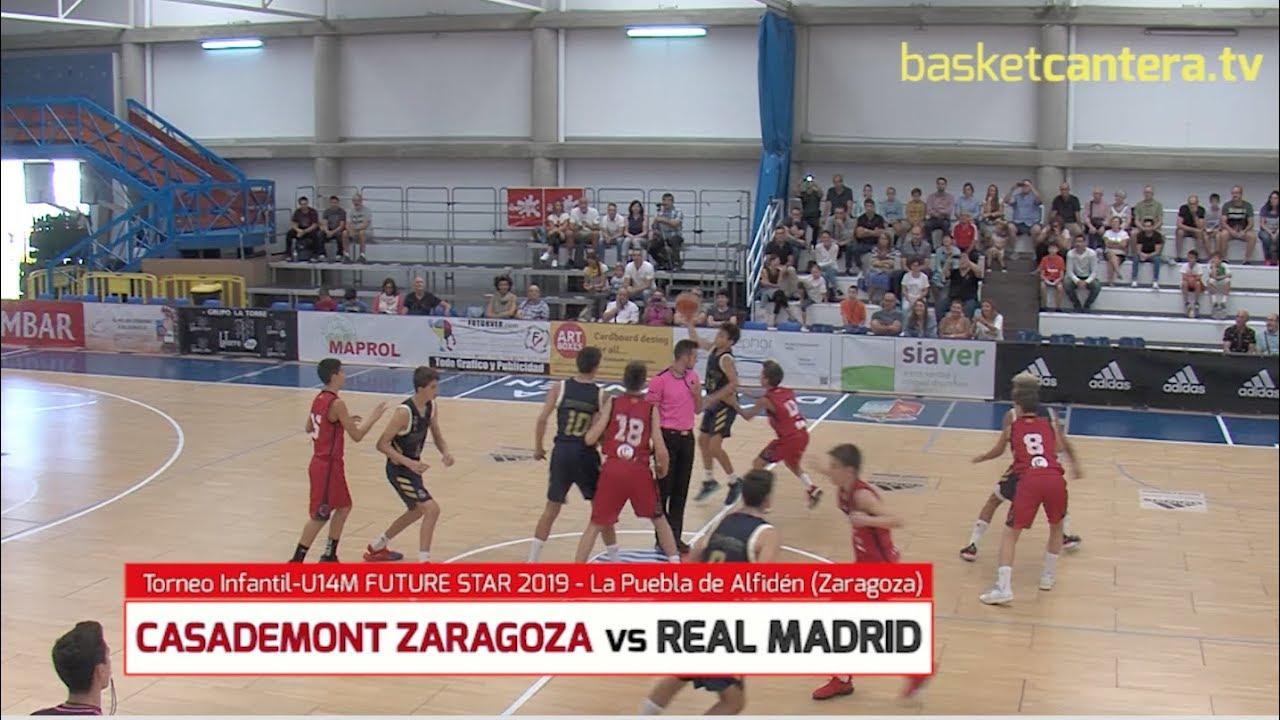 U14M - ZARAGOZA BASKET vs REAL MADRID.- Torneo Infantil FUTURE STAR 2019 La Puebla de Alfindén