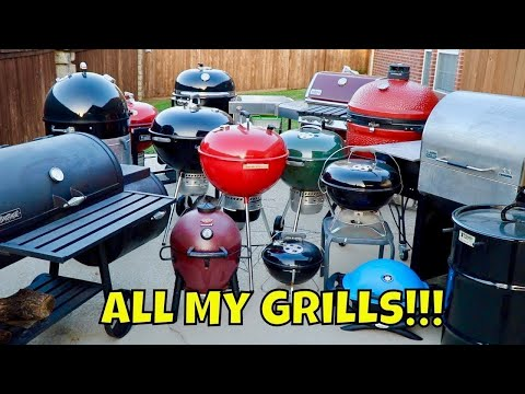 All My Grills! Big Green Egg, Kamado Joe, Weber Summit Charcoal Grill, WSM, Akorn MAK Grills 2 Star