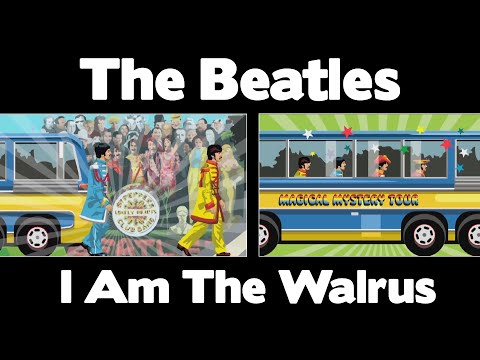 the beatles i am the walrus 1967 music video 94 song. Black Bedroom Furniture Sets. Home Design Ideas